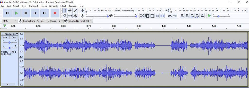 Ultrasonic Silent Subliminal Audio frequency Waveform