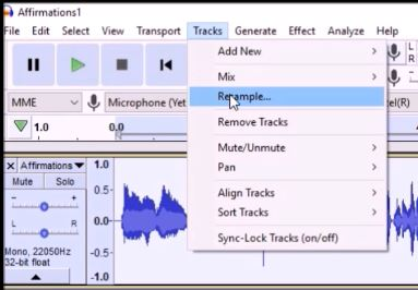 Click Tracks and Resample