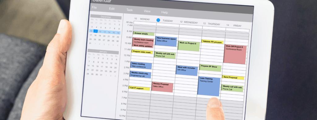 Planning Goals on a Calendar App