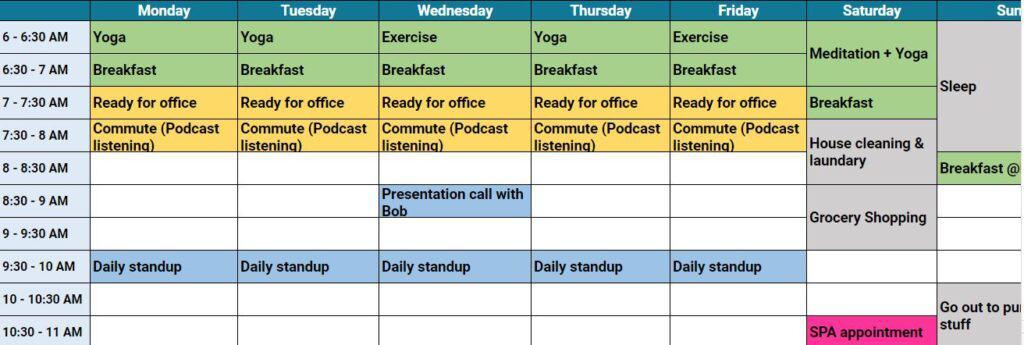 Unschedule Time Management Calendar