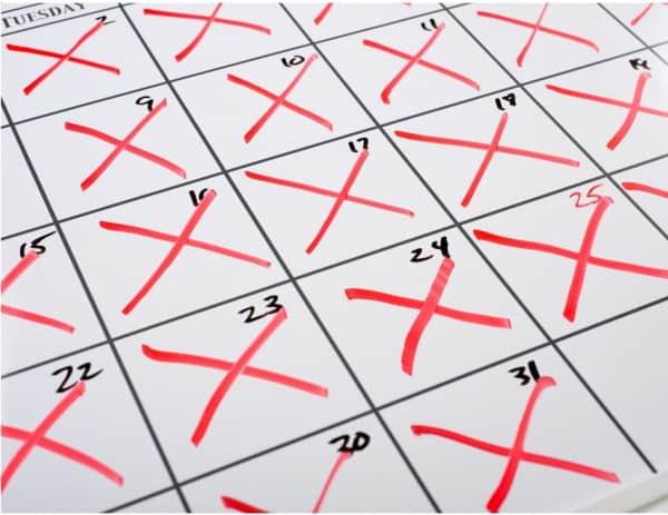 Seinfeld Calendar X's